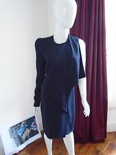 Givenchy Black One Sleeve Cocktail Dress Size 42/UK12 Navy