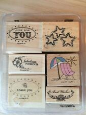Stampin' Up! Mounted and Other Stamp Set Friend-Wishes-Thank You Stars