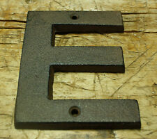 """Cast Iron Industrial LETTER E Sign Rustic Brown 5"""" tall Alphabet"""