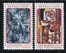 SAN MARINO 1987 NATIONAL ART BIENNAL/ART/EMILIO VEDOVA/CAGLI/PAINTINGS  MNH