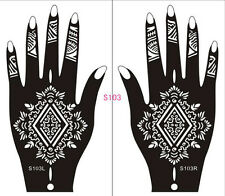 Henna decal stencil body jewllery self adhesive hand S103