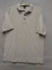 V6572 Antigua Beige 1/2 Button Up Y/C T-shirt Men's M