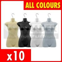 10 x Female Hanging Body Form Display Mannequin Bust Dummy Torso Shop Fitting