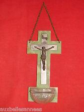 ANCIEN BENITIER SUR SUPPORT BAKÉLITE CHRIST / OLD STOUP