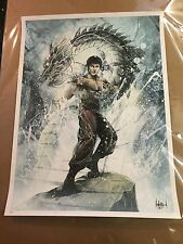 """Be Like Water"" by JP Valderrama Bruce Lee Signed Numbered Edition of 50 Rare"