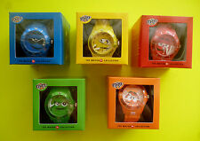M&M M&M 's 5 Uhren Watch Collection Armbanduhr Rot Gelb Grün Blau Orange