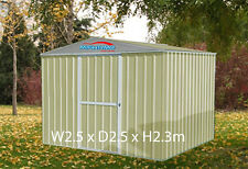 Garden Shed 2.5x2.5m Storage Shed Gable Roof Cream