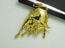 Stier Auto Motorrad Emblem Badge Sticker Aufkleber Bulle 3D Metall Gold Glanz
