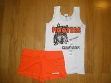 NEW HOOTERS UNIFORM HALLOWEEN COSTUME TANK/SHORTS CLEARWATER FLORIDA SM/XS XTR