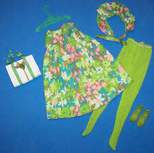 Vintage Francie Doll #1211 Complete Tenterrific Outfit Purse Shoes Scarf 1968