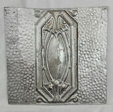 "12"" x 12.5"" Antique Tin Ceiling Tile *See Our Salvage Videos* Chic Silver Sg15"