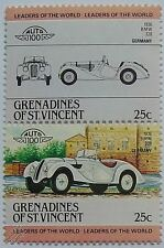 1936 BMW 328 Car Stamps (Leaders of the World / Auto 100)
