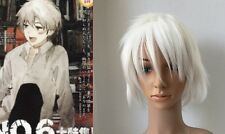 New Future City NO.6 Shion Dramatical Murder White Cosplay Full Wig Short 721