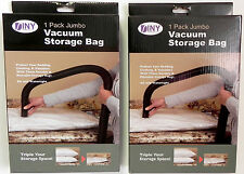 2 Pack Jumbo Vacuum Storage Bag Space Saver Store Clothing Linens Sheets Pillow
