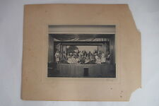 VINTAGE PHOTO LOCAL TOWN PLAY DETAILED COSTUMES SOLDIERS MAIDENS NOBLEMEN DETAIL
