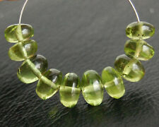 AAA Natural Green Peridot Smooth Plain Rondelle Semi Precious Beads 5-6mm.