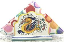 Deruta Pottery-Napkins Holder Raffaellesco Made/Painted by hand in Italy