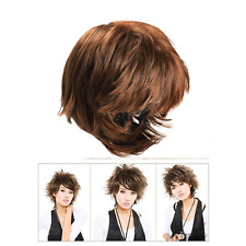 Stylish Women Fluffy Short Curly Light Brown Lady Full Wig Cosplay Hair Wigs New