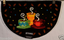 NOURISON COFFEE CUPS KITCHEN FLAVORS RUG/MAT 20X32 SLICE 100% WASHABLE