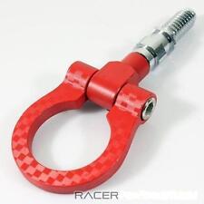 Crochet de remorquage universel tow hook rouge style carbone VW PEUGEOT