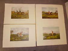 SET OF FOUR FLOWERS OF OUR HUNT PRINTS VGC FREE POSTAGE UK!! FOXHUNTING