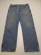 Wrangler Mens Size 36X29 Classic Fit Blue Work Jeans Good Condition