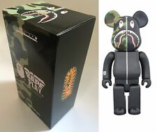 Medicom Toy Be@rbrick Bearbrick BAPE CAMO SHARK Black 400% Figure WGM ape 2017