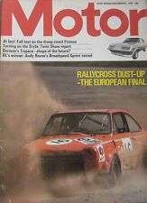 Motor 9/11/1974 featuring Vauxhall Firenza road test, Broadspeed, Bond Bug