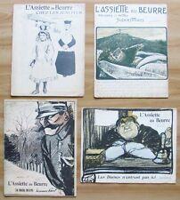 L'ASSIETTE AU BEURRE - LOTTO di 4 Riviste Satiriche del 1904* RARE e OTTIME