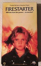 STEPHEN KING'S , FIRESTARTER, DREW BARRY MOORE, DAVID KEITH, VHS 1984/92 UNIVERS