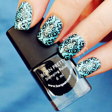 Born Pretty 6ml Black Nail Art Stamping Polish Nail Art Design Varnish Stamp