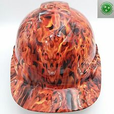 Hard Hat custom hydro dipped , OSHA approved INFERNO HELL RAISER