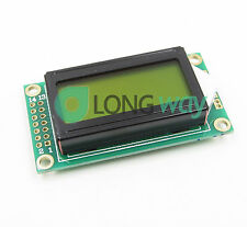 Yellow 0802 LCD 8x2 Character LCD Display Module 5V LCM For Arduino Raspberry pi