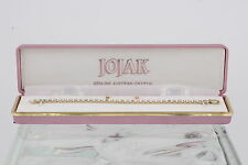 COSTUME JOJAK CLEAR AUSTRIAN CRYSTALS EARRINGS & TENNIS BRACELET SET IN BOX 3561