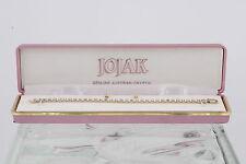 COSTUME JOJAK CLEAR AUSTRIAN CRYSTALS EARRINGS & TENNIS BRACELET SET IN BOX 3561