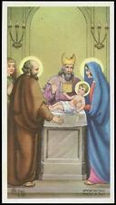 """santino-holy card"""""""" ediz. AR n.Z/36 PRESENTAZIONE DI GESU' AL TEMPIO"""