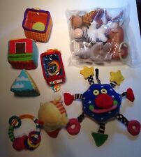 Lot of 12pc Plush Baby Toys-Chicco Animal Clip on Toys, Sassy, Infantino,Whoozit