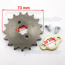 428 17 Tooth 17mm ID Front Engine Sprocket For Stomp YCF Upower Pit Dirt Bikes