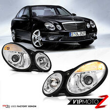 03-06 M-BENZ W211 Euro Chrome Projector HID Headlamp Headlight Assembly L+R