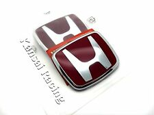 JDM 1PCS RED FRONT / REAR 70MM X 60MM BADGE EMBLEM FOR HONDA CIVIC PRELUDE S2000