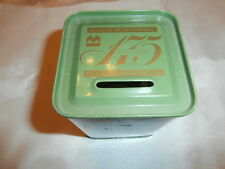 Vtg Bank of Montreal 175 Anniversary Tin Piggy Bank