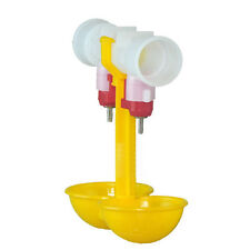 Bird Coop Double Cups Automatic Poultry Water Drinking Fowl Chicken Drinker