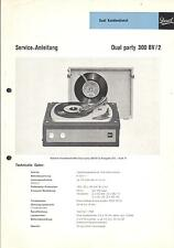 Dual Service Manual für party 300 BV 2