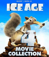 Ice Age 4-Movie Set (Blu-ray Disc, 2016, 4-Disc Set)
