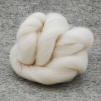 Organic Merino Wool Tops / Roving - Natural Ivory White - Felting Spinning 500g