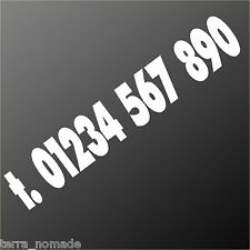 PHONE NUMBER Large Bike/Car/Van/Shop/Window/Wall Vinyl Decal Sign Sticker