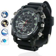 16GB Full HD 1080P Spy Watch Camera Waterproof Hidden Camcorder Night Vision DVR
