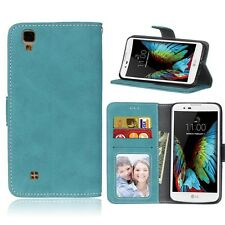 For LG Smart Phone Luxury Wallet ID Card Matte Leather Case Cover Skin TPU / DK