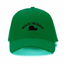 Snail What's The Rush? Funny Embroidery Embroidered Adjustable Hat Baseball Cap