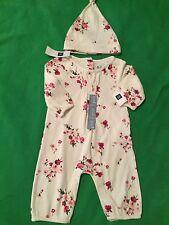 Baby Gap Girl 0-3m Floral One Piece & Hat Outfit NWT Free Shipping